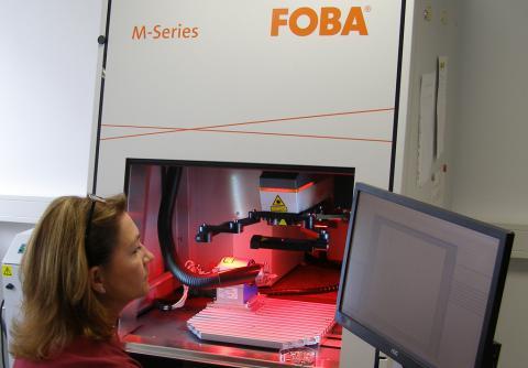 Abbildung: Produktion Beschriftungslaser FOBA M-Series